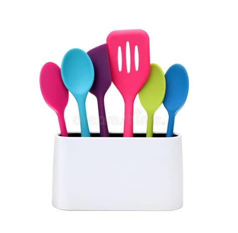 contemporary kitchen utensils modern cooking colorful kitchen utensils stock image 2524