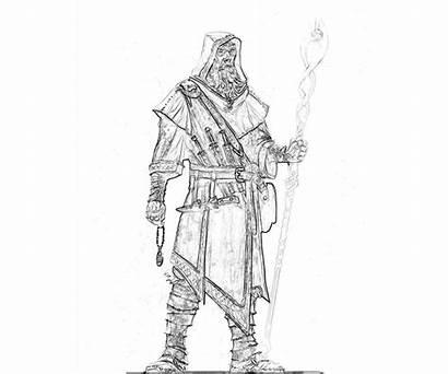Skyrim Mage Elder Scrolls Armor Robes Coloring