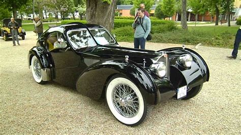 1938 bugatti type 57sc atlantic. Gorgeous Bugatti Type 57SC Atlantic Coupé replica - startup and turnaround - YouTube