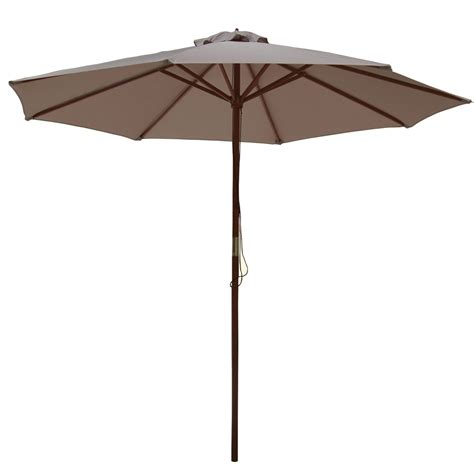 palm springs 2 7m wooden parasol umbrella garden sun shade
