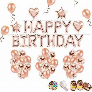 überraschungsgeschenk Für Freundin : izoel geburtstag rose deko happy birthday girlande buchstaben folienballon rosegold 36 rosa ~ Orissabook.com Haus und Dekorationen