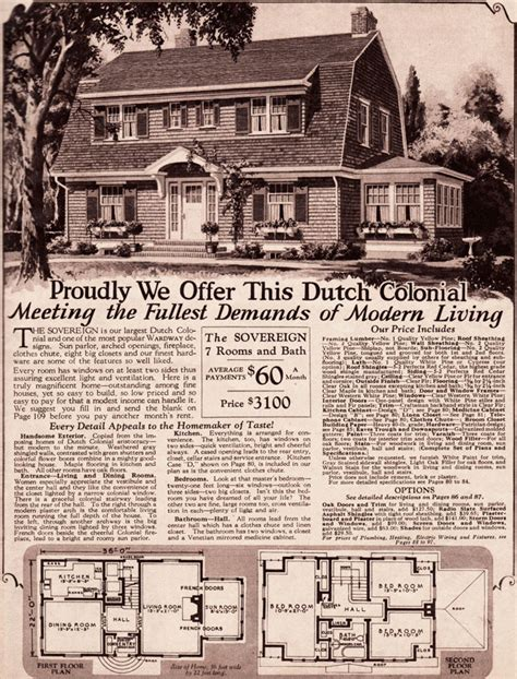 montgomery ward kit homes dutch colonial revival sovereign