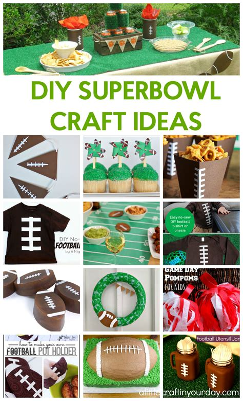 diy super bowl crafts   craft   day
