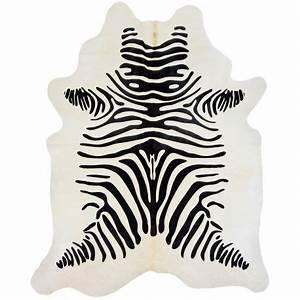 tapis en vrai peau de vache imprime zebre With tapis peau de vache avec canapé inclinable 2 places