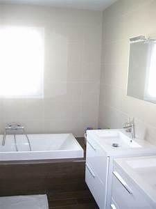 salle de bain avec baignoire douche a l39 italienne et 2 With salle de bain baignoire et douche italienne