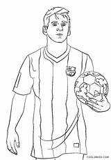 Coloring Soccer Messi Player Printable sketch template