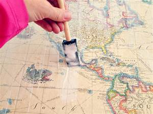 Cool DIY Map Tables Definitely Gonna Do This To The