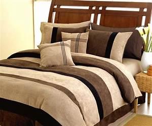 Jacaranda striped black chocolate camel microsuede 6 pc for Patio furniture covers makro
