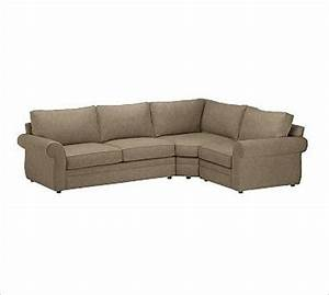 pearce left 3 piece with corner wedge sectional With 3 piece sectional sofa with wedge