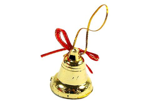 pretty christmas tree hanger ornament bell gold 10pcs