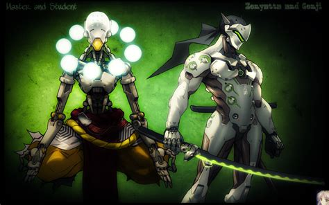 Genji Animated Wallpaper - overwatch genji and zenyatta wallpaper by firefox4x on