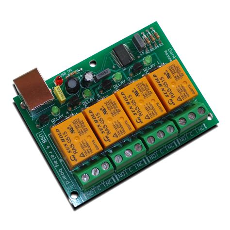 Usb Four Relay Module Board For Home Automation