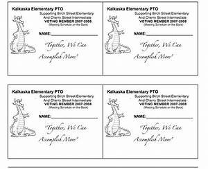 pto membership cards pto school ideas pinterest With pta membership card template