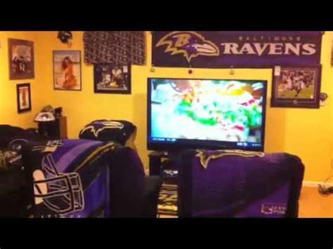 baltimore ravens mancave custom basement youtube