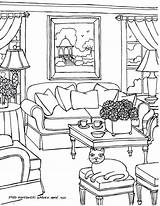 Coloring Pages Drawing Rooms Opera Sydney Adults Perspective Adult Living Colouring Interior Furniture Drawings Books Then Fred Printable Gonsowski Getdrawings sketch template