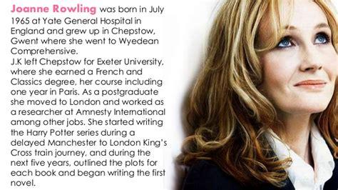 Harry potter novel writer name