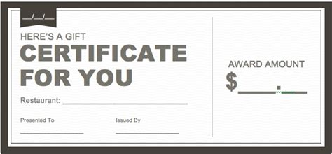 restaurant gift certificate template certificate downloads free studio design gallery best design