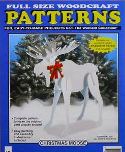 Christmas Moose Wood Craft Pattern