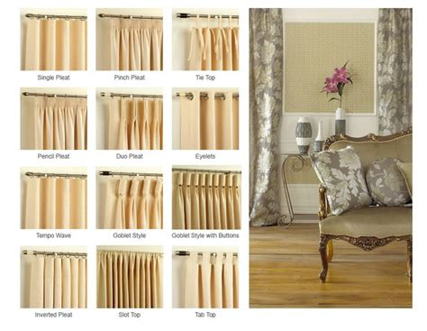 different drapery pleat styles best 25 curtain headings ideas on curtains