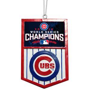 chicago cubs 2016 world series chions banner ornament