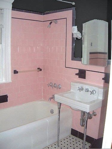 Pink Tile Bathroom Ideas by 75 Best What To Do With A 50 S Pink Bathroom Images On