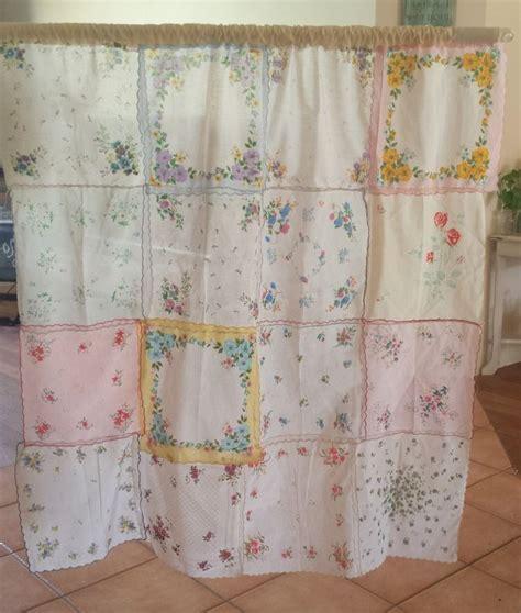 Vintage hankerchief curtain   Ideas I actually did