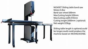 Mj345et Woodworking Band Saw With Sliding Table