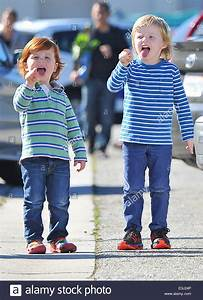 Amy Poehler takes her children Archie and Abel Arnett to a ...