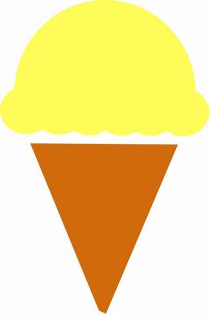 Ice Cream Scoop Clipart Clip Icecream Orange
