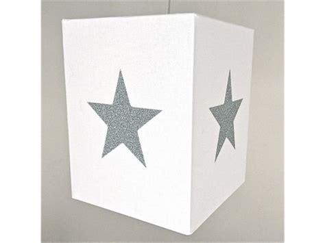 chambre etoile lustre chambre enfant coton blanc à étoile argent