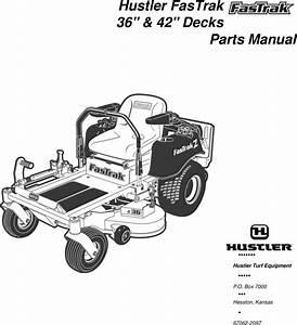 Hustler Turf Fastrak 36 And 42 Decks Users Manual
