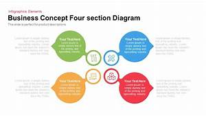 4 Section Business Concept Diagram For Powerpoint