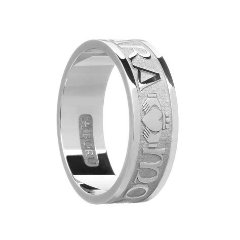gents mo anam cara soul mate wedding ring celtic jewelry by boru