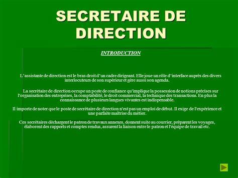 secretaire de direction les metiers du secretariat ppt t 233 l 233 charger