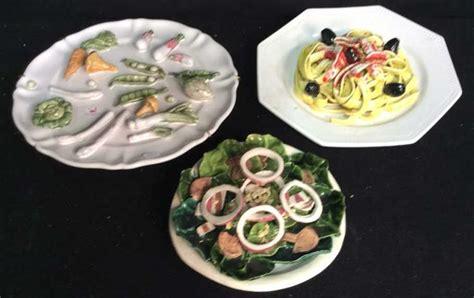trompe l oeil cuisine 3 trompe l 39 oeil ceramic plates food