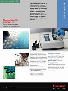 Guide Manual Of Spectrophotometer Genesys 20