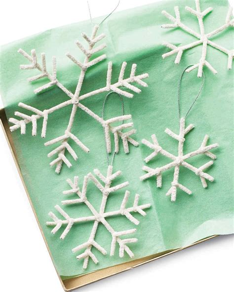 martha stewart christmas crafts for adults pipe cleaner snowflake ornaments martha stewart