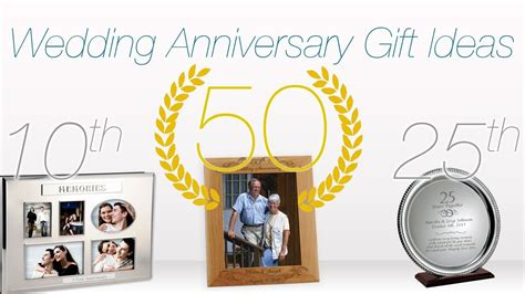 Gift Ideas For Wedding Anniversaries ♥ 1st, 10th, 25th