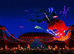 gif disney alice  wonderland  years fireworks
