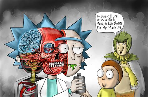 rick and morty fans rick and morty fan piece and homage to artist nychos