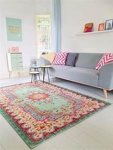 Schöne Teppiche Fürs Wohnzimmer : pastell vintage teppich im angesagten shabby chic look f r wohnzimmer schlafzimmer flur ~ Frokenaadalensverden.com Haus und Dekorationen