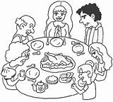 Dinner Thanksgiving Coloring Printable sketch template