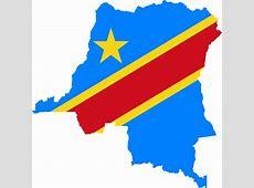 Clipart Democratic Republic Of The Congo Flag Map