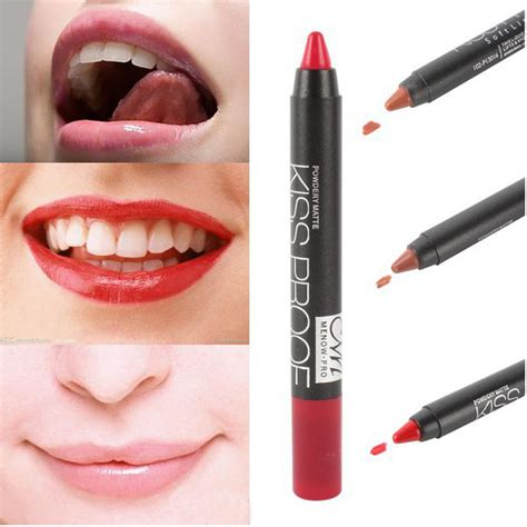 Kissproof Lipstick By Menow No 07 19colors menow lipstick matte proof lipstick soft lip