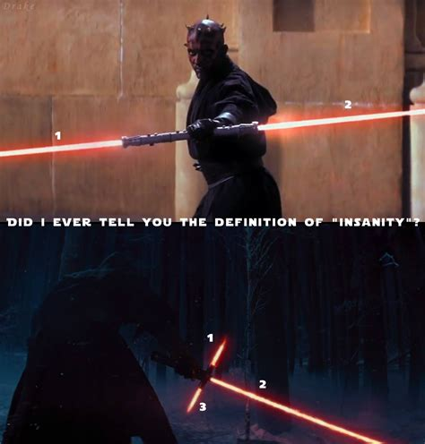 Lightsaber Meme - did i ever tell you the definition of insanity crossguard lightsaber know your meme