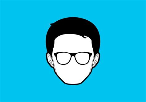 simple geek vector   vectors clipart