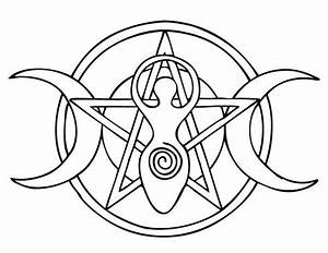 Goddess Pentacle By Ancasta Color Your Magic Pinterest