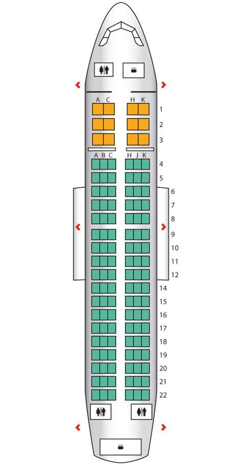 Airbus A319 Seating Chart American
