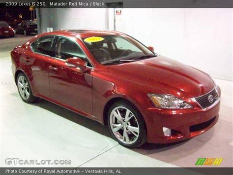 lexus is 250 red interior matador red mica 2009 lexus is 250 black interior