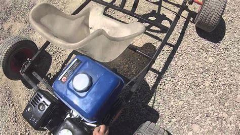 siege tracteur mon kart fait maison 200cc 6 5ch 3 2